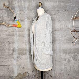 Cotton On Eyelet Knit Open Cardigan Sz L